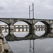 Cv - Susquehanna River Bridge Harrisburg  Pennsylvania Art Print