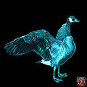 Cyan Canada Goose Pop Art - 7585 - Bb  Art Print