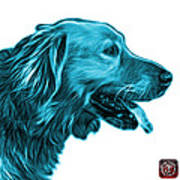 Cyan Golden Retriever - 4047 Fs Art Print