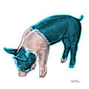 Cyan Piglet - 0878 Fs Art Print