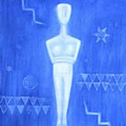 Cycladic Goddess - Middle Panel Art Print