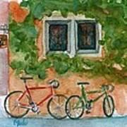Cycle Cafe Art Print