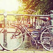Cycle In Sun Art Print