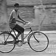 Cycling Boy Art Print