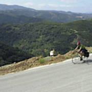 Cycling In Greek Mountains Art Print