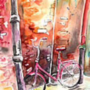 Cycling In Italy 02 Art Print
