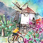 Cycling In The Mountains Of Gran Canaria Art Print