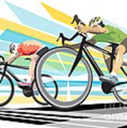 Cycling Sprint Poster Print Finish Line Art Print