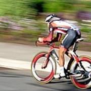 Cyclist Time Trial Art Print