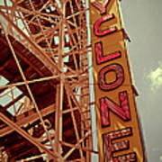 Cyclone Roller Coaster - Coney Island Art Print