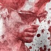 Cyclops X Men Paint Splatter Art Print