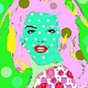Cyndi Crawford Art Print by Ricky Sencion