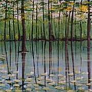 Cypress Garden Art Print