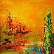 Cypress Gold Art Print