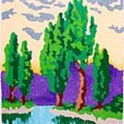 Cypress River Art Print