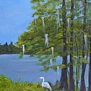 Cypress Trees At Lake Marion Art Print