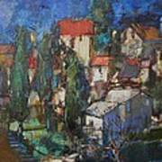 Cypresses Art Print