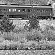 Cyrus K  Holliday Private Rail Car Bw Art Print