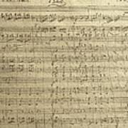 Czech Republic Prague Symphony No. 38 In D Major Called Prague Symphony Art Print