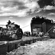 D-day Landings Harbour Art Print
