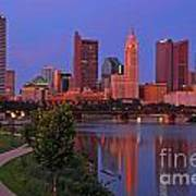 D2l38 Columbus Ohio Skyline Photo Art Print