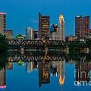 D2l64 Columbus Ohio Skyline Art Print