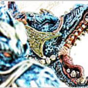 Da Dragon Comic IIacd Art Print