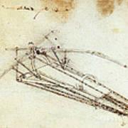 Da Vinci Flying Machine 1485 Art Print