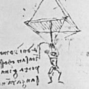 Da Vinci's Parachute Art Print