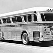 Dachshound Charter Bus Line Art Print