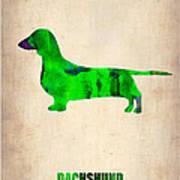 Dachshund Poster 1 Art Print by Naxart Studio