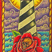 Dad's Lighthouse Art Print