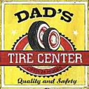Dad's Tire Center Art Print by Debbie DeWitt