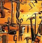 Dads Tools 3 Art Print by Will Boutin Photos