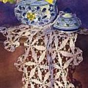 Daffodils And Lace Art Print