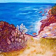 Daffodils At The Beach Art Print