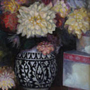 Dahlias Art Print by Susan Hanlon