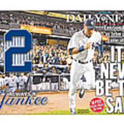 Daily News Front Page Wrap Derek Jeter Art Print