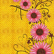 Daisies Design - S01y Art Print by Variance Collections