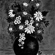 Daisies In Black And White Art Print
