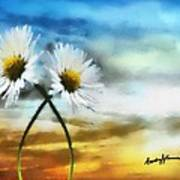 Daisies In Love Art Print