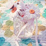 Daisies In Pot 02a - Du Bonheur En Pot Art Print