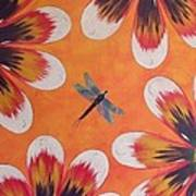 Daisy And Dragonfly Art Print