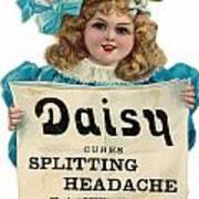 Daisy Headache Cure Art Print