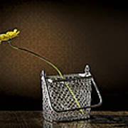 Daisy In A Chain Basket Art Print