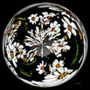 Daisy Sphere Art Print