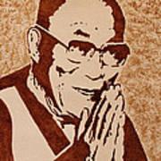 Dalai Lama Original Coffee Painting Art Print