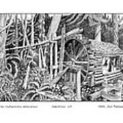 Water Wheel Alderbrook Hood Canal W A Art Print