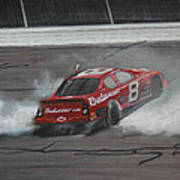 Dale Earnhardt Junior Victory Burnout Art Print