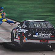 Dale Earnhardt Wins Daytona 500-pit Road Hand Shake Art Print